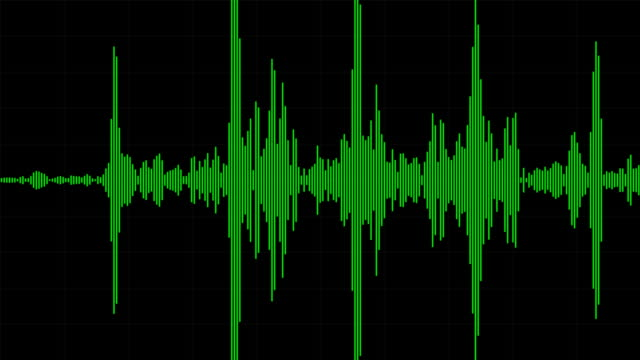 audio waveform-/ spectrum - biegung stock-videos und b-roll-filmmaterial