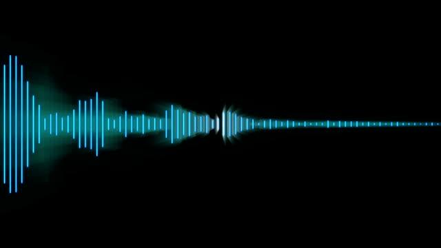 audio waveform - soundtrack stock videos & royalty-free footage