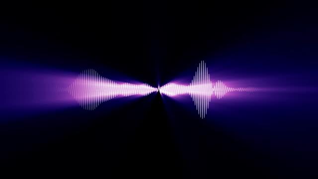 stockvideo's en b-roll-footage met audio waveform (light rays) - spectrum