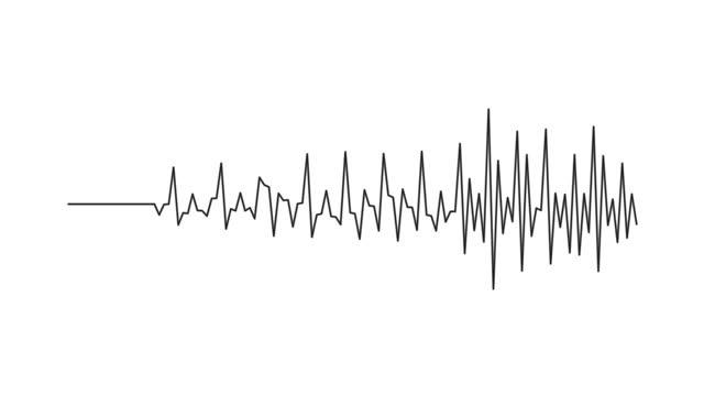 からのオーディオウェーブ。サウンドスペクトル、デジタルフォレンジック。抽象的な音楽波振動。未来的な音波の視覚化。合成音楽技術サンプル。印刷を調整します。歪んだ周波数。4k uhd - 地震点の映像素材/bロール