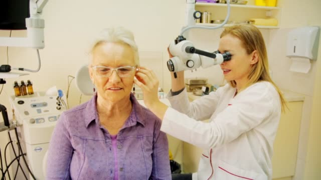 audiology examination - deafness stock videos & royalty-free footage