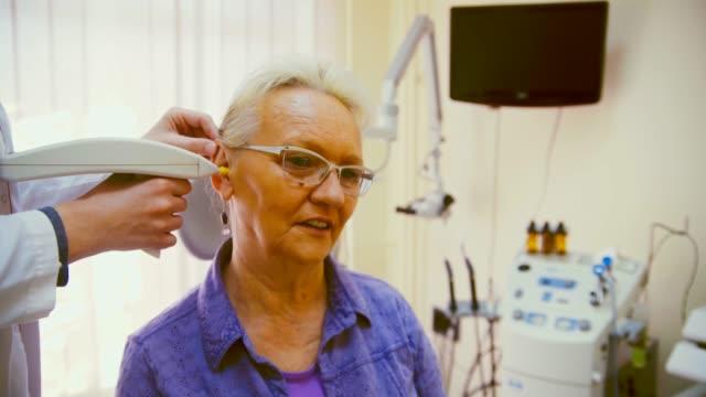 audiology examination - hearing loss stock videos & royalty-free footage