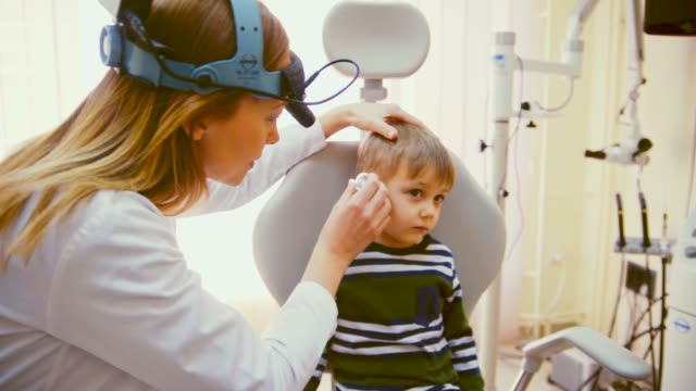 audiology examination - human ear stock videos & royalty-free footage