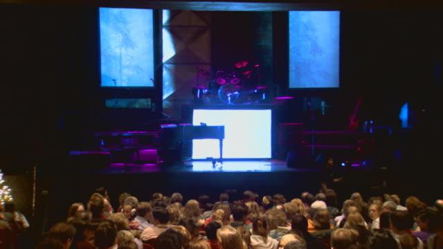 auditorium before concert - auditorium stock videos and b-roll footage