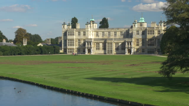 audley end, saffron walden, essex. - stately home stock videos & royalty-free footage