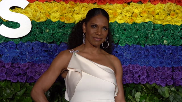 audra mcdonald at the 73rd annual tony awards arrivals at radio city music hall on june 09 2019 in new york city - annual tony awards stock videos & royalty-free footage