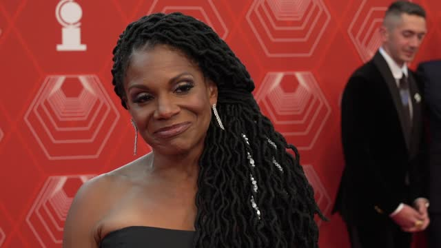 audra mcdonald on what it feels like tonight, what her plans are now that broadway is back at the 74th annual tony awards - arrivals on september 26,... - broadway manhattan stock videos & royalty-free footage
