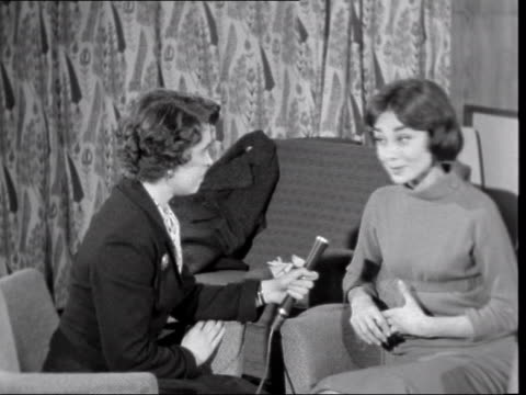 audrey hepburn interview; england: london: lap : int audrey hepburn interview sof - on 'war and peace', working with husband mel ferrer stands up to... - audrey hepburn stock videos & royalty-free footage