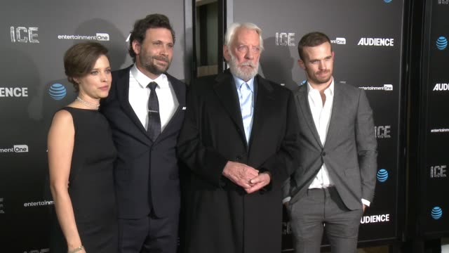 audrey marie anderson, jeremy sisto, donald sutherland and cam gigandet at at&t's audience network celebrates the premiere of ice at arclight cinemas... - arclight cinemas hollywood stock videos & royalty-free footage