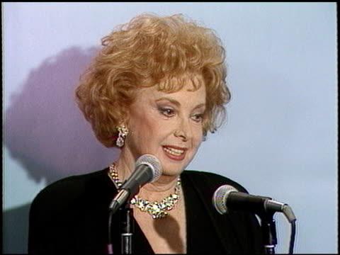 Audrey Meadows at the 1987 Emmy Awards Inside at the Pasadena Civic Auditorium in Pasadena California on September 20 1987