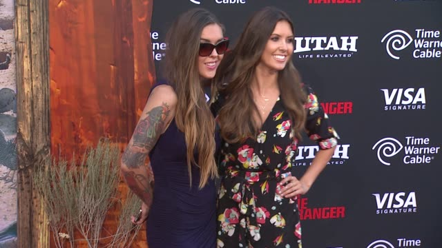 audrina patridge and casey patridge at the lone ranger los angeles premiere audrina patridge and casey patridge at the lone r at disney california... - the lone ranger 2013 film stock videos and b-roll footage