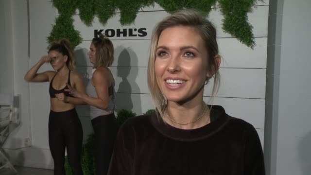 vídeos y material grabado en eventos de stock de interview audrina patridge on the event at behindthescenes at kohl's x studio tone it up workout event at barker hangar in santa monica ca january 13... - entrevista acontecimiento