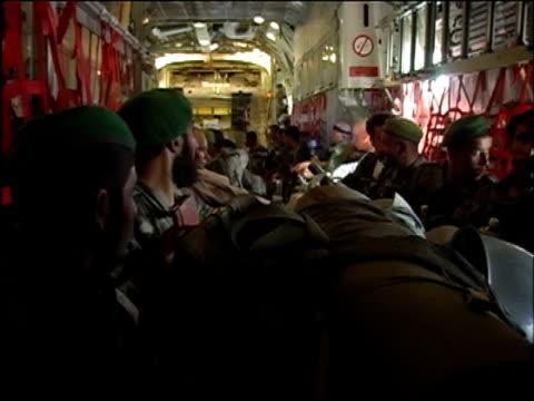 vídeos y material grabado en eventos de stock de august 15 2004 shaky wide shot afghan soldiers on plane en route from kabul to shinand/ audio - boina