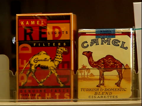 august 16, 2006 cigarette packs on shelf / united states - sachet stock videos & royalty-free footage