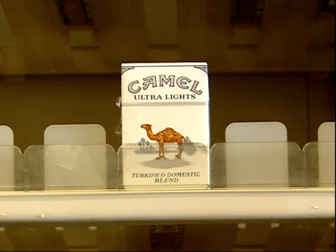 august 16, 2006 pack of cigarettes on a shelf / united states - sachet stock videos & royalty-free footage