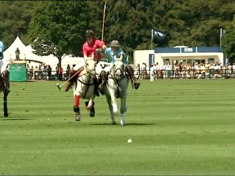 august 17, 2006 film montage prince harry riding horse during cartier international polo match, dismounting, and getting onto another horse/harry... - medium group of animals stock videos & royalty-free footage
