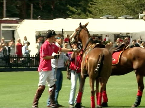 August 17 2006 WS PAN Prince Harry riding horse during Cartier International Polo Match/ Windsor England/ AUDIO