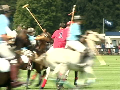august 17, 2006 prince harry riding horse during cartier international polo match/ windsor, england/ audio - medium group of animals stock videos & royalty-free footage