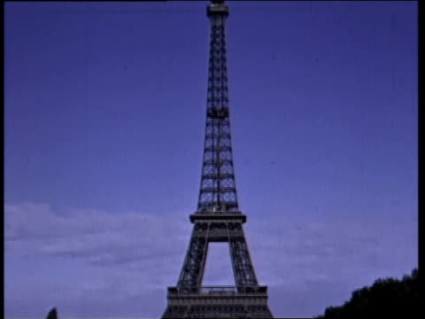 august 1944 montage the eiffel tower and other landmarks / paris, france - eiffel tower paris stock videos & royalty-free footage