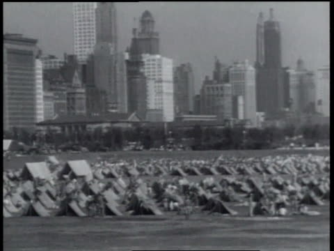 august 20, 1934 montage encampment on lake shore in front of field museum / chicago, illinois, united states - 1934 stock videos & royalty-free footage
