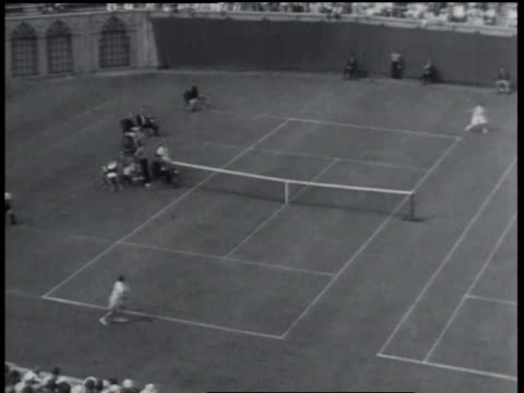 august 20, 1934 montage helen jacobs playing in tennis match - 1934 stock videos & royalty-free footage
