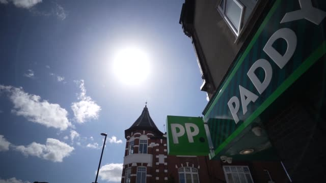 general view of paddy power betting and gambling shop on august 20, 2020 in unspecified, united kingdom. the office for national statistics reported... - stabilized shot stock videos & royalty-free footage