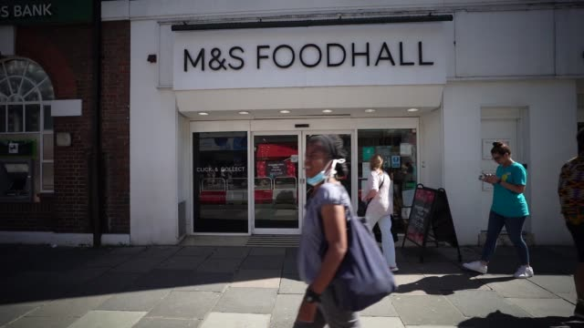 with retail sales suffering due to the coronavirus pandemic clothing store marks spencer has announced 7000 job losses in the coming months on august... - pain stock videos & royalty-free footage