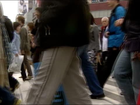 August 21, 2004 / Crowd crossing street in Tokyo, Japan