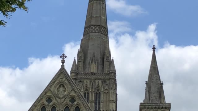 august 22 0801 the tower tour at salisbury cathedral where visitors can take a guided tour of all the unseen areas of the cathedral including the... - clock stock videos & royalty-free footage