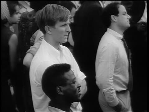 b/w august 28 1963 blacks whites watching marian anderson sing at march on washington - 1963 march on washington stock videos and b-roll footage