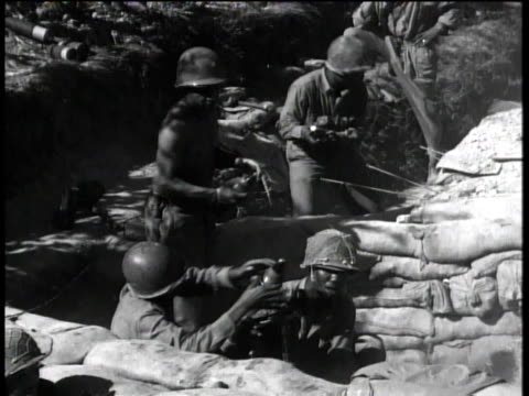 august 29, 1944 montage infantry combat troops firing mortars / peccioli, italy - infantry stock videos & royalty-free footage