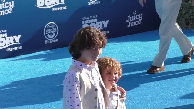 august maturo at finding dory premiere at el capitan theatre in hollywood in celebrity sightings in los angeles - maturo stock videos & royalty-free footage