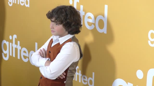 august maturo at the gifted los angeles premiere presented by fox searchlight at pacific theatres at the grove on april 04 2017 in los angeles... - maturo stock videos & royalty-free footage