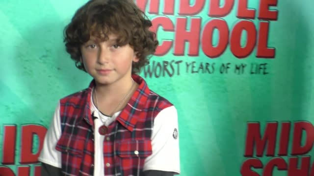 august maturo at the premiere of cbs films' middle school the worst years of my life at tcl chinese 6 theatres in hollywood at cbs films' middle... - maturo stock videos & royalty-free footage