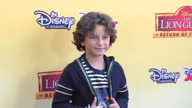 august maturo at the premiere of disney channel's the lion guard return of the roar at walt disney studios in burbank at celebrity sightings in los... - maturo stock videos & royalty-free footage