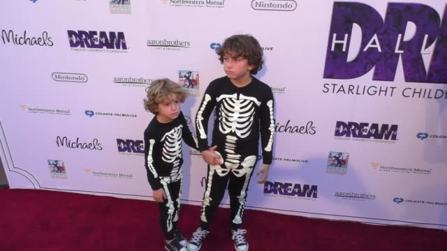 august maturo at the starlight children's foundation dream halloween 2016 at park plaza in los angeles at celebrity sightings in los angeles on... - maturo stock videos & royalty-free footage