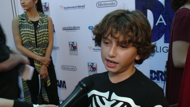 interview august maturo on the event at starlight's dream halloween 2016 in los angeles ca - maturo stock videos & royalty-free footage