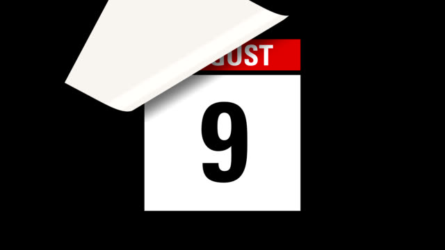 August month calendar HD