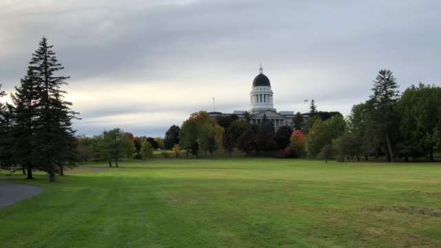 augusta, maine usa state capital building - augusta maine stock videos & royalty-free footage