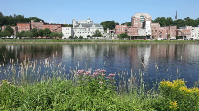 augusta, maine - kennebec river stock videos & royalty-free footage