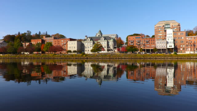 augusta maine - kennebec river stock videos & royalty-free footage