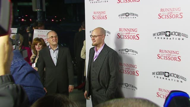 augusten burroughs author at the tristar pictures presents 'running with scissors' los angeles premiere at academy of motion picture arts sciences in... - tristar pictures stock videos and b-roll footage