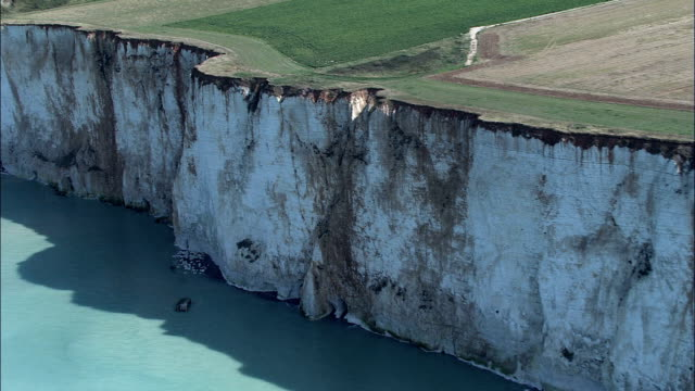 Ault And Cliffs  - Aerial View - Picardie, Somme, Arrondissement d'Abbeville, France