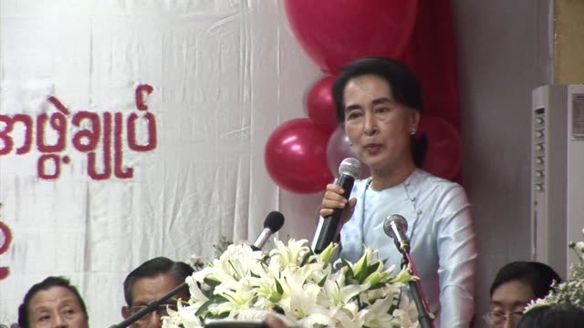 aung san suu kyi marks the 25th anniversary of the founding of her national league for democracy party with a fresh appeal to overhaul the countrys... - 25th anniversary stock videos and b-roll footage
