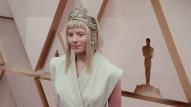 aurora at the 92nd annual academy awards at dolby theatre on february 09 2020 in hollywood california - academy of motion picture arts and sciences stock videos & royalty-free footage