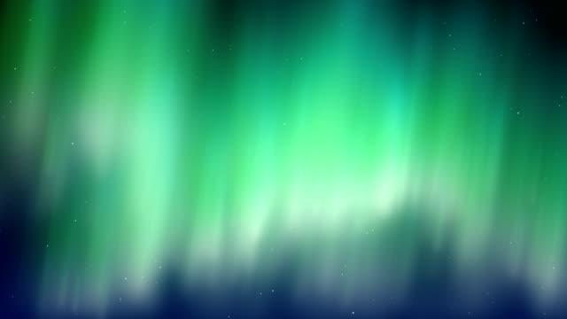 vídeos de stock e filmes b-roll de aurora borealis cool blue motion background - aurora polar