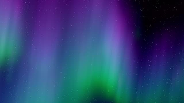 vídeos de stock e filmes b-roll de aurora borealis flythrough motion background - aurora polar