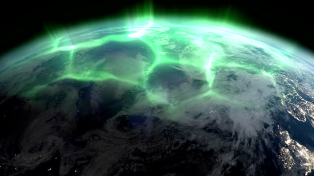 Aurora Borealis (Northern lights) from space