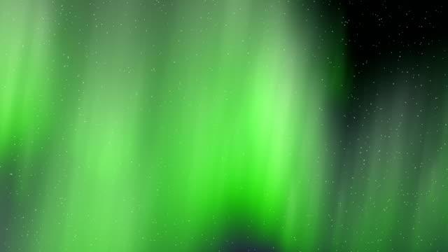 vídeos de stock e filmes b-roll de aurora borealis green flythrough motion background - aurora polar