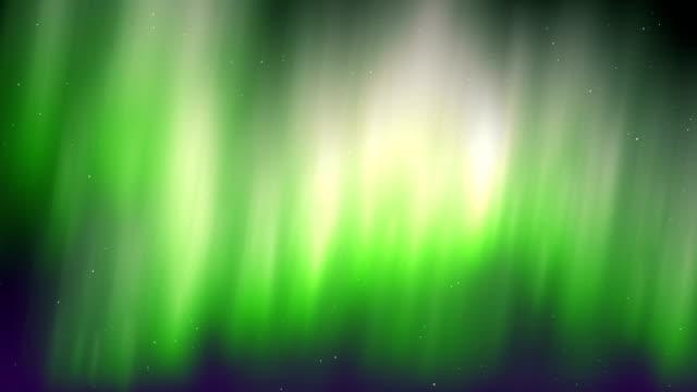 vídeos de stock e filmes b-roll de aurora borealis green motion background - aurora polar